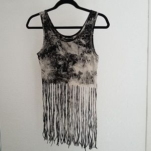 Wet Seal Fringe Crop Top